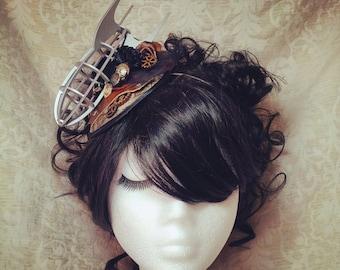 Steampunk Fascinator, Steampunk Headband, Steampunk Hat, Fascinator, Steampunk Wedding, Airship, Dirigible, Zeppelin, Pirate, Gothic Lolita