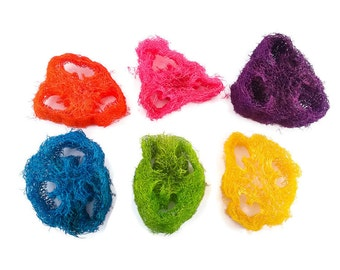 Colored Loofah Slices - Bird Toy Foot Toy