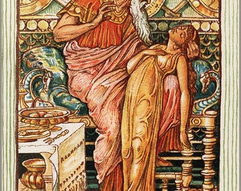 Poster, Many Sizes Available; King Midas Myth, By Walter Crane C1893 Greek Mythology