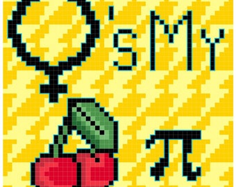 Counted Cross Stitch Pattern She's My Cherry Pie