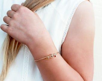 Children's Name Bracelet / Flower Girl Gift / Personalized Initial Bracelet / Kids Girl Wedding Gift / Kids Name Bracelet / Gift For Kids
