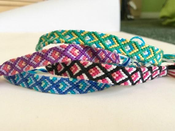 diamond friendship bracelets woven bracelets friend gift. Black Bedroom Furniture Sets. Home Design Ideas