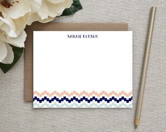 Personalized Stationery. Personalized Stationary. Personalized Note Cards / Notecards. Personalized. Stationery. Note Card Sets. Modern Geo.
