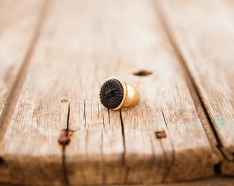 Big gold ring, Black ring, Gold round ring, Big ring, Gold ring, Black & gold ring, Round ring, Large gold ring, Big round ring, Large ring