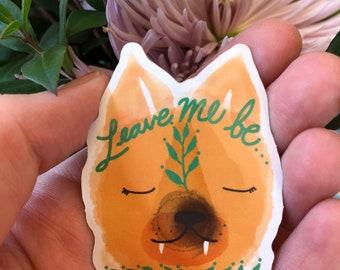 Let Me Be Sleeping Fox Sticker