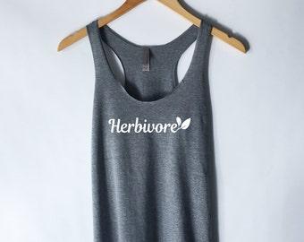 Herbivore Tank Top - Vegan Vegetarian Shirt - Animal Rights - Hipster Tumblr Vegan Shirt - Herbivore Shirt