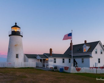 Pemaquid Point Lighthouse at Dusk