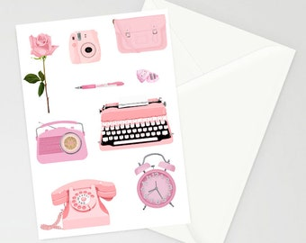Think Pink A6 Greetings Card