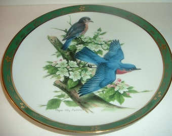 1990 Roger Tory Peterson Bluebirds Plate