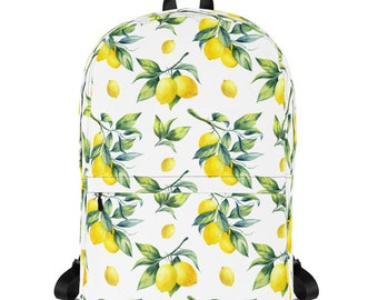 Lemon Backpack, Backpack Women, Vegan Backpack, Laptop Backpack, Vegan Bag, Vegan, Travel Bag, Vegan Gift, Rucksack, Diaper Bag, Beach Bag