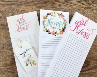 Hand Lettered Notepads