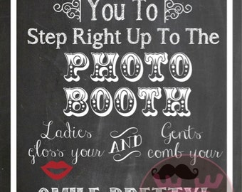 INSTANT DOWNLOAD - Photo Booth Sign - Chalkboard Sign - Weddings, Little Man Birthday