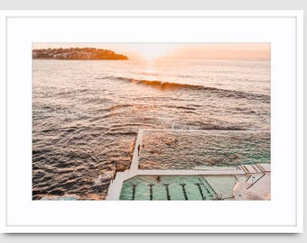 Made-to-order Bondi Beach Nature Water Photography Print Large Wall Art