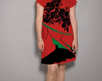 Red dress, Black dress, Green dress, party dresses for women, midi dress, designer dress, summer dresses, dress with pockets, artist dress