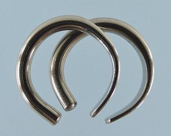 Boucles d'oreilles niobium: calibre 12 petits anneaux ouverts - KISS9-12