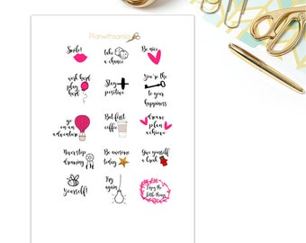 Words and Phrases - Printable Planner Stickers