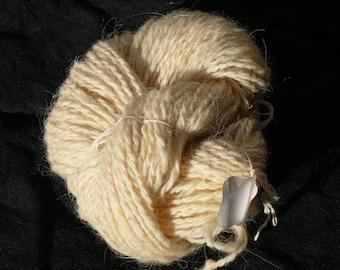 Skein of handspun wool yarn, two ply,  from Sardinian sheep