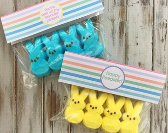 INSTANT DOWNLOAD: Easter Peep Bag Toppers