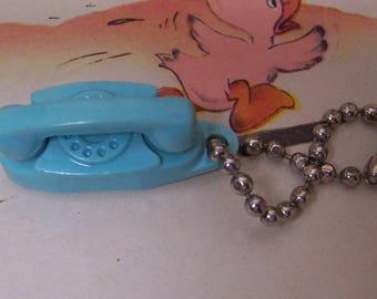 itty bitty blue telephone charm