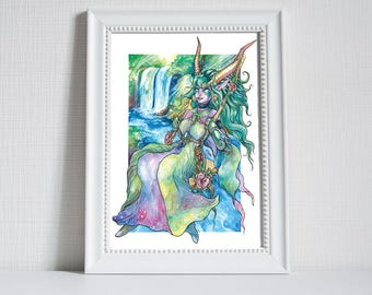Print ~ Ysera from World of Warcraft in her humanoid form.
