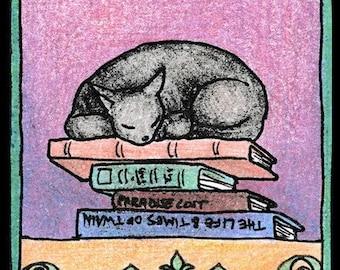 5 Sleeping Cat Bookplates