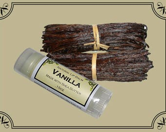 VANILLA Lip Balm made with Shea Butter - .15oz Oval Tube
