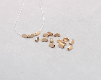 50Pcs, 6mm Raw Brass Triangle Tube Beads , Hole Size 2mm , SJP-A022