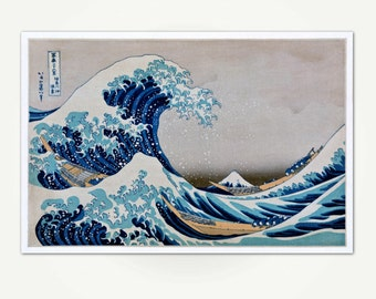Kanagawa Wave Print - Under the Wave off Kanagawa Japanese Block Print