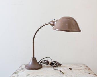 Industrial Black Rusted Gooseneck Desk Lamp Vintage Metal Light