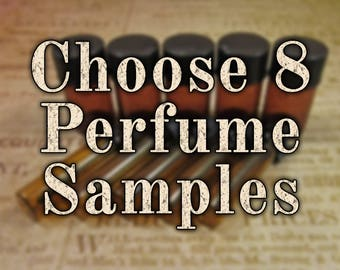 Perfume Oil Samples, Choose Eight (8) 1mL or 2mL Samples, Cologne Oil, Artisan Fragrance, Alcohol Free, VEGAN Perfume, Ships Out in 5-8 Days