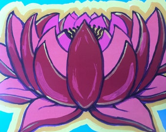 MAGIC LOTUS BLOSSOM art print