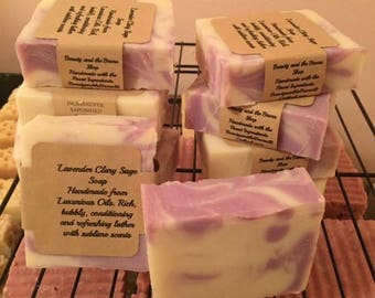 Lavender Clary Sage Tallow Soap