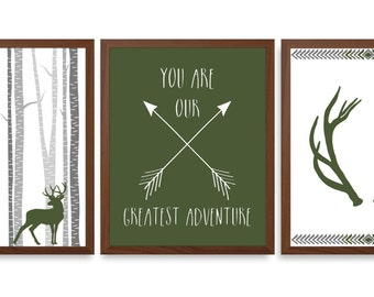 Boys Camo Nursery Art - Camo Nursery - Adventure Nursery Quote - Chevron - Buck Nursery Art - Baby Boy - Adventure - Chevron Nursery Decor