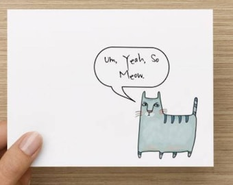 Notecard.  Sarcastic cat.  Multiple pack sizes available!