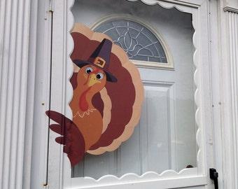 Thanksgiving Decor Turkey Door Wall Decal