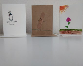 3pack get well cards