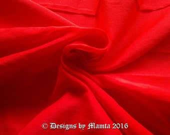 Crimson Red Dupioni Art Silk Fabric By The Yard, Candy Red Fabric, Bridal Silk Fabric, Designer Silk Fabrics, Silk Dupioni Fabric, Art Silk