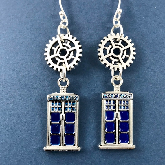 Doctor Who Steampunk Earrings