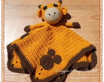 Crochet Giraffe Lovey ~ handmade by Scrappin Magic