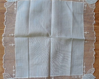 4 Fancy Floral Vintage Handkerchiefs Hankies Lot 6