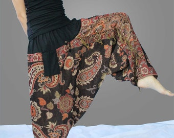 hippie pants women harem pants yoga pant harem wide leg pants boho clothing wide leg hippie pants cotton pants one size