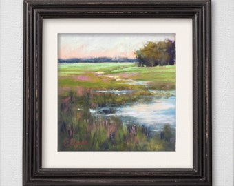 "Original Pastel Painting ""Salt Marsh"""