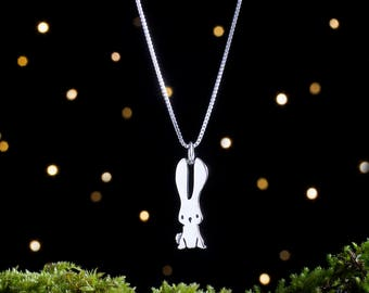 Sterling Silver Bunny Rabbit - Small, Double Sided - (Charm or Necklace)