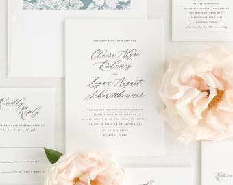 Claire Wedding Invitations - Sample