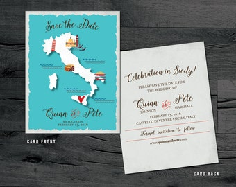 Italy Save the Date – Sicily, Rome, Venice, Florence Destination Wedding – Wedding Save the Dates