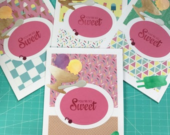 Thank You Cards - Ice Cream Shoppe - You're So Sweet
