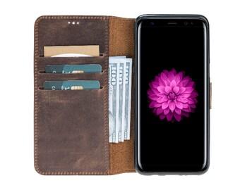 Solo Pelle Samsung Galaxy S8 Wallet Case Original S8 Vintage Brown