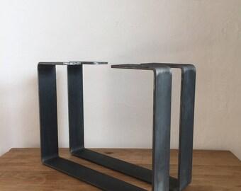 Superieur Set Of 2 Steel Coffee Table Legs, Metal Table Legs, Industrial Legs, Steel Table  Base, Dining Table Base, Heavy Duty