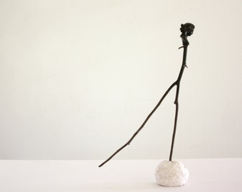 Tiny Dancer figurative sculpture anthropomorphic tabletop assemblage art Paul Ashby