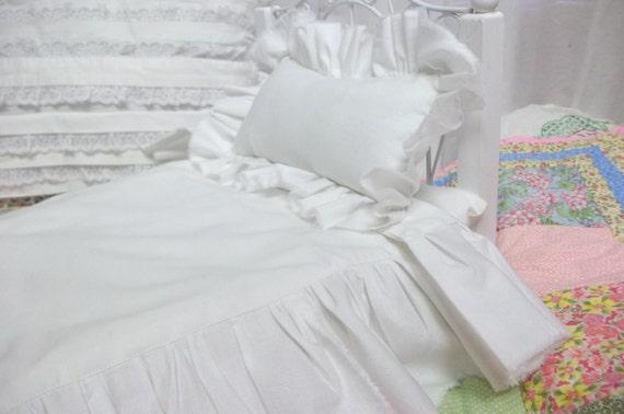 18 inch  Girl Doll Sized Shabby Bedspread Set